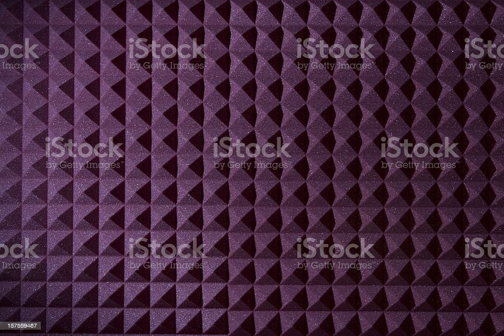 Pyramid sound recording foam background stock photo
