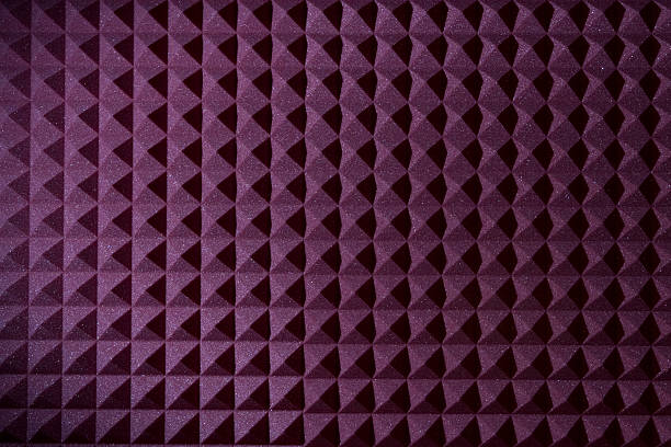 Pyramid sound recording foam background  recording studio stock pictures, royalty-free photos & images