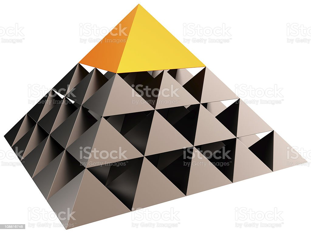 Pyramid structure (Hi-Res) stock photo