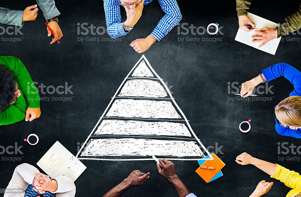 Pyramid Top Leadership Development Promotion Concept stock photo