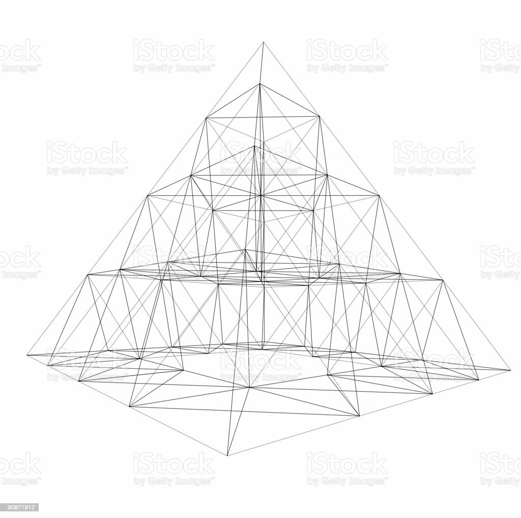pyramid wire-frame royalty-free stock photo