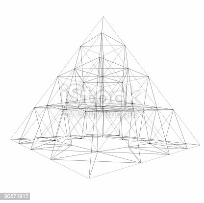 istock pyramid wire-frame 90871912
