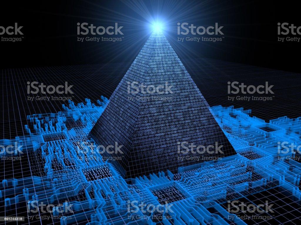 Pyramidal Computer stock photo