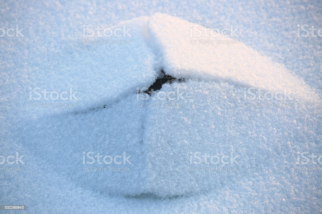 Pyramidal ice hummock stock photo