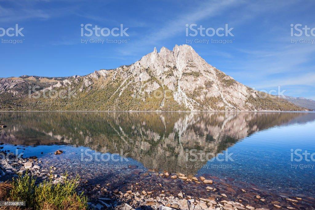 Pyramidal mountain in San Carlos de Bariloche stock photo