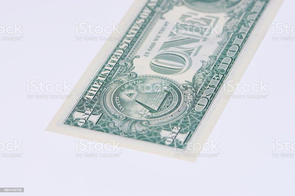 Pyramide auf dem 1 Dollar Schein stock photo