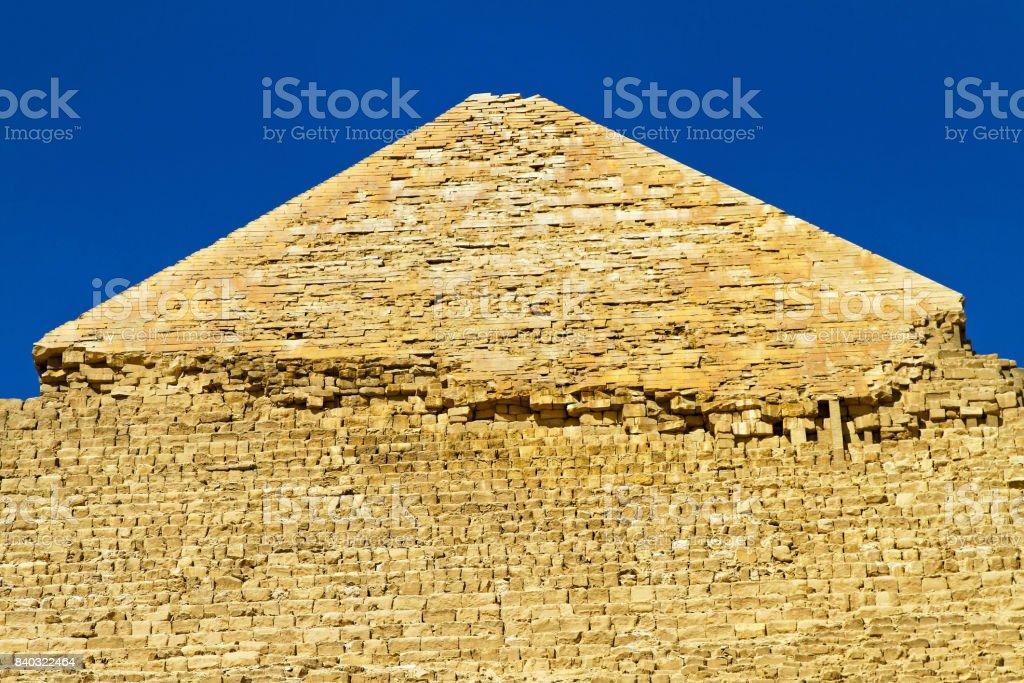 Pyramide Khafre top stock photo