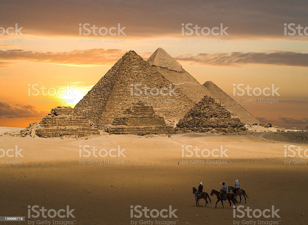 Pyramids fantasy stock photo