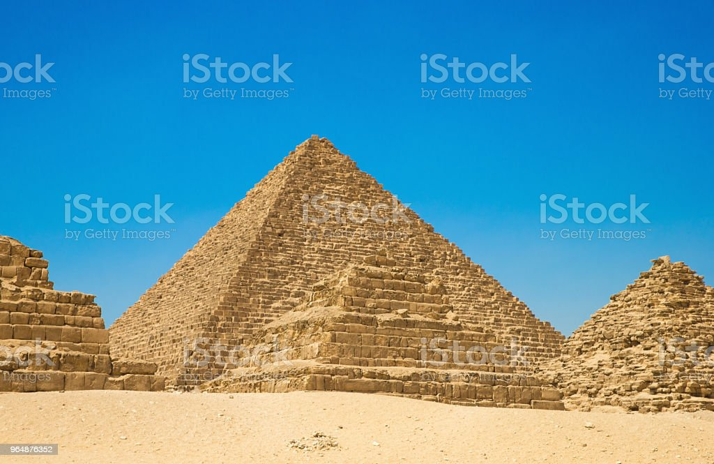 pyramids  Giza in Cairo, Egypt. royalty-free stock photo
