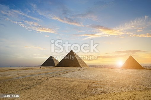 pyramids  in Cairo, Egypt