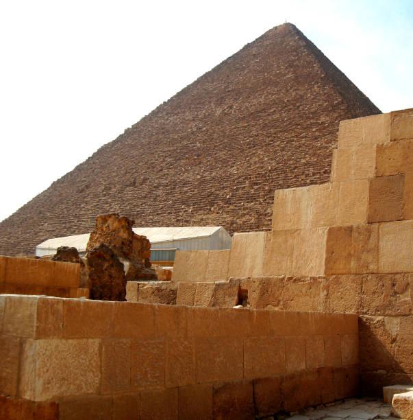 Giza Mısır çölünde Piramitler stok fotoğrafı