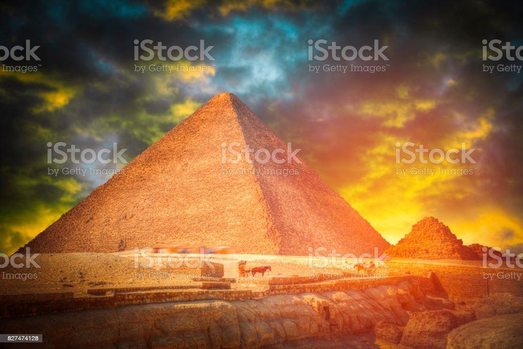 pyramids in Giza. stock photo