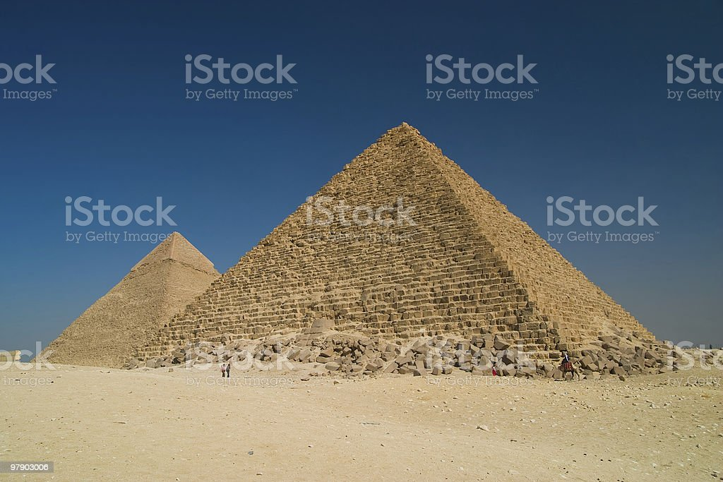 Pyramids in Giza royalty-free stock photo