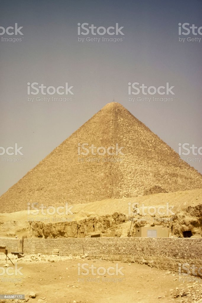 Pyramids, megalithic structures of ancient civilization. Big pyramids of Egypt stock photo