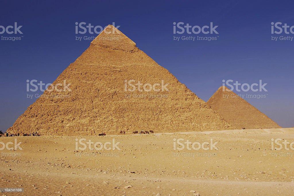 Pyramids of Egypt royalty-free stock photo