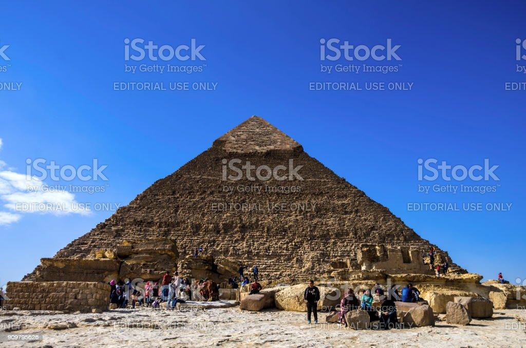 Pyramids of Giza and Sphinx. Cairo, Egypt. stock photo