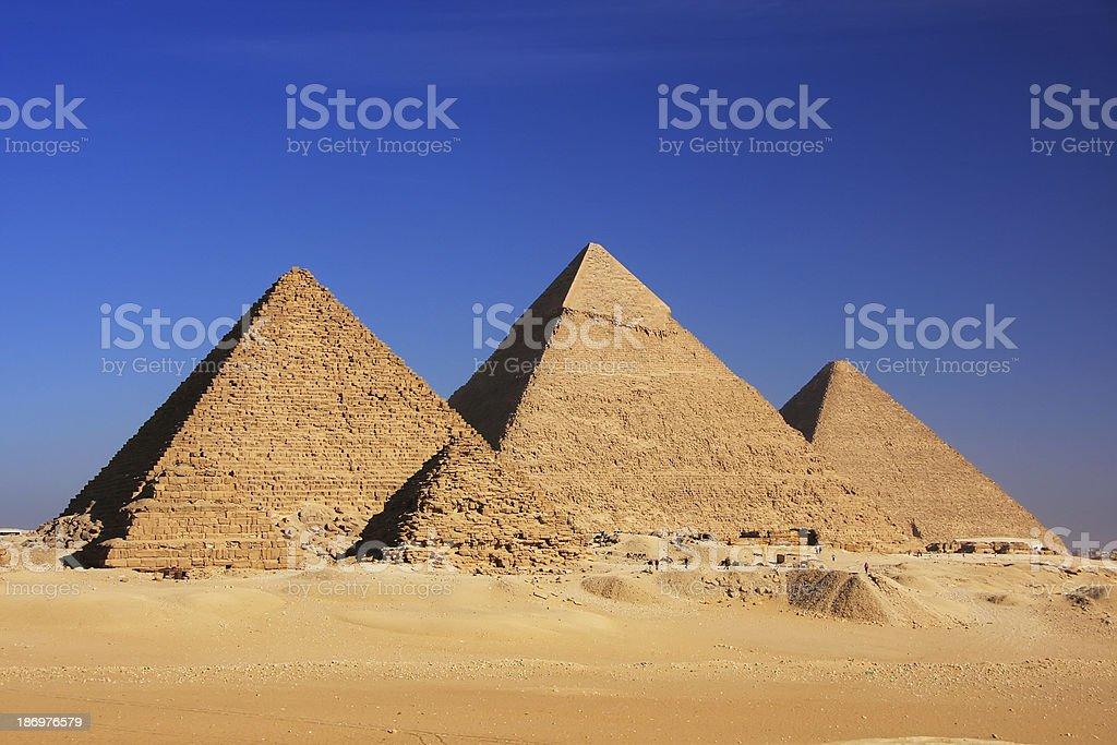 Pyramids of Giza, Cairo royalty-free stock photo