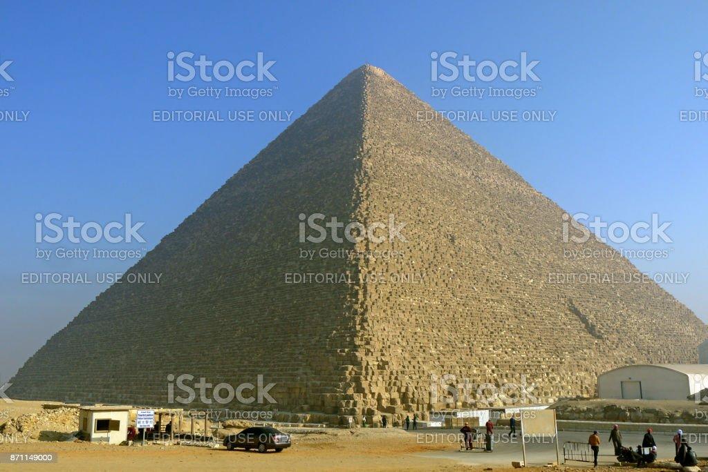Pyramids of Giza, Egypt. stock photo