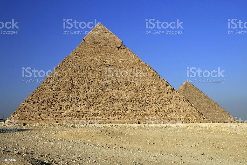 Pyramids of Giza in Cairo, Egypt royalty-free stock photo