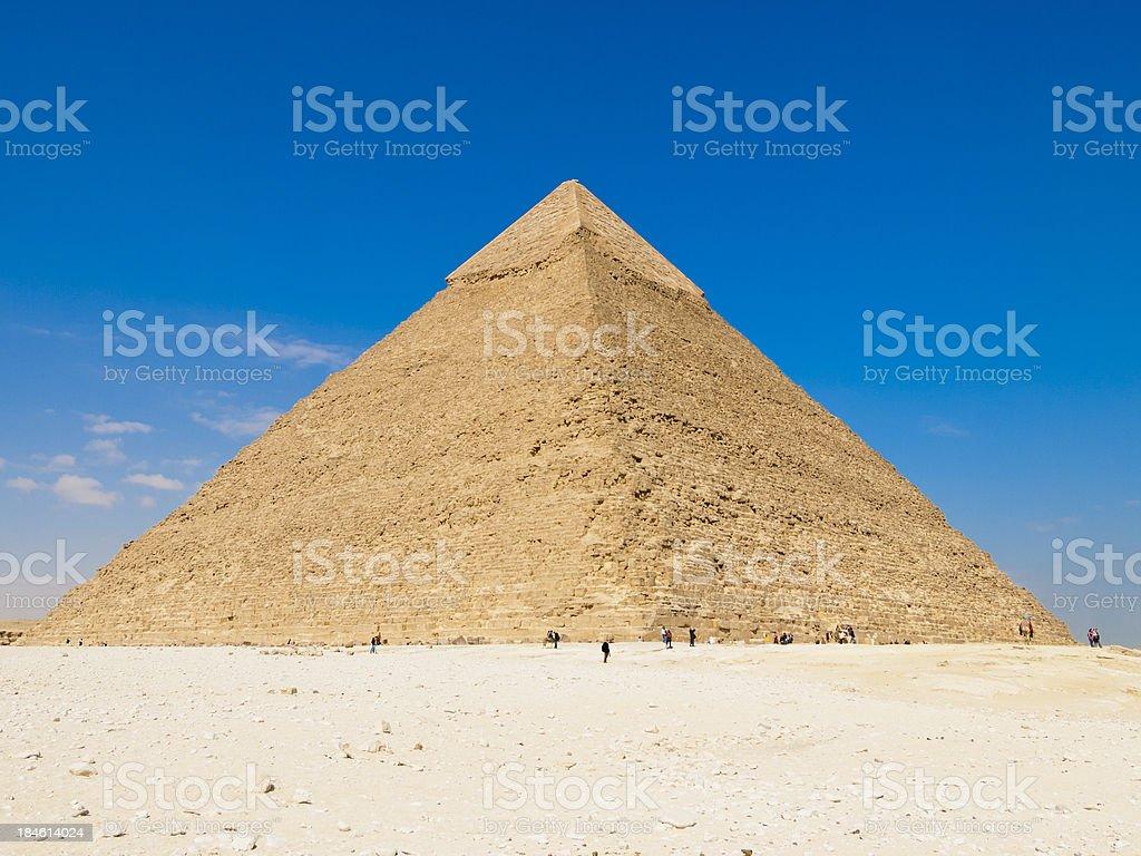 Pyramids of Giza royalty-free stock photo
