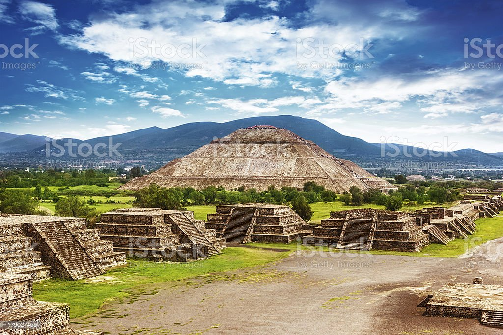 Pyramids of Mexico stock photo