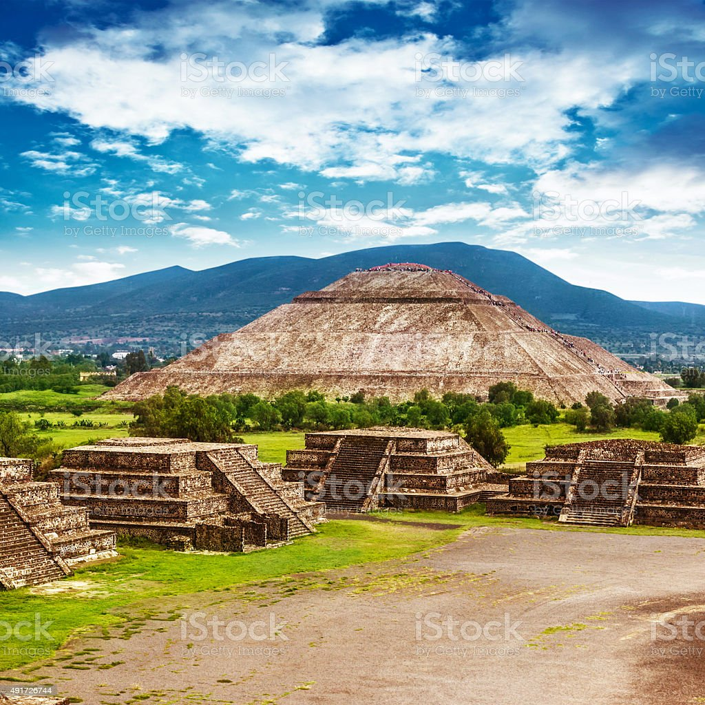 Pyramids of Mexico stock photo