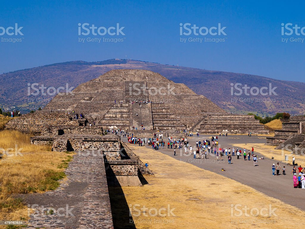 Pyramids of teotihuacan, Mexico city stock photo