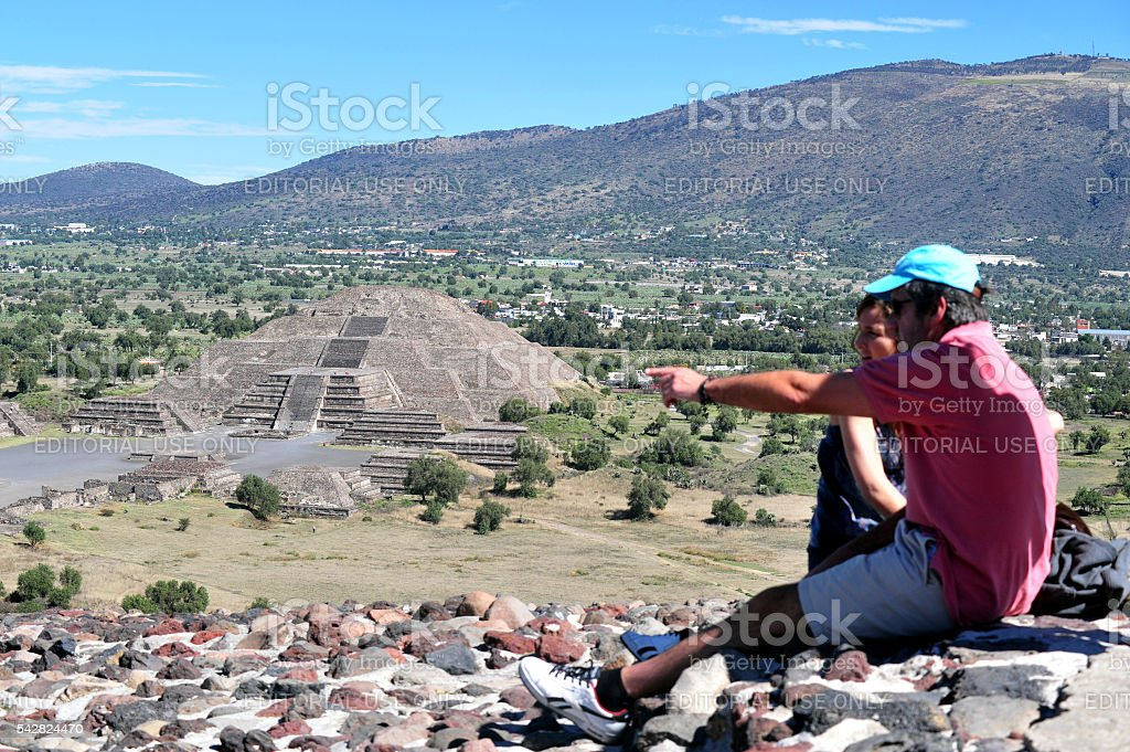 Pyramids of Teotihuacan -Mexico stock photo