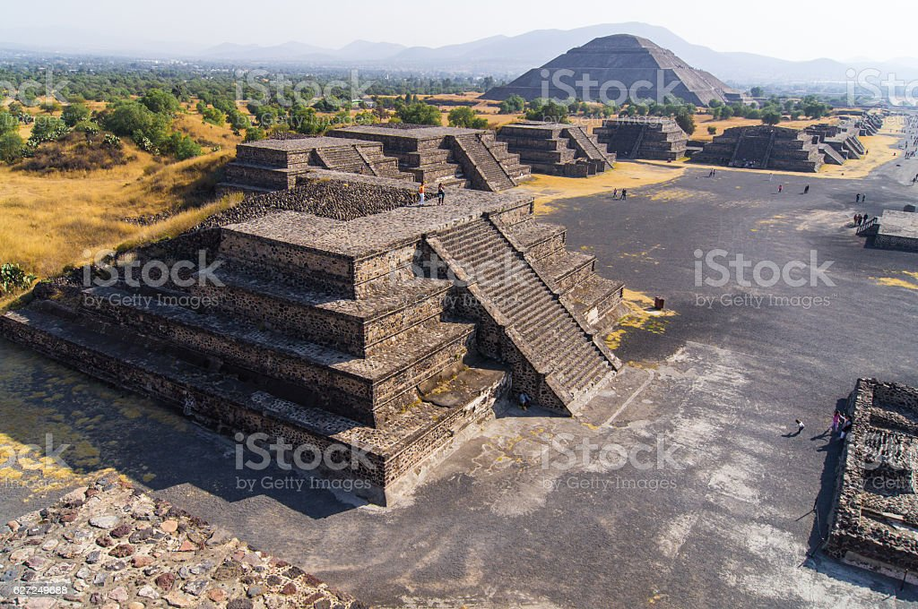 Pyramids of Teotihuacán, Mexico stock photo
