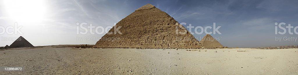 Pyramids panoramic royalty-free stock photo