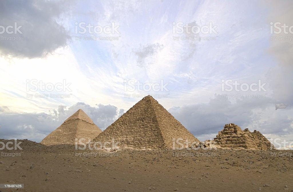 HDR pyramids royalty-free stock photo