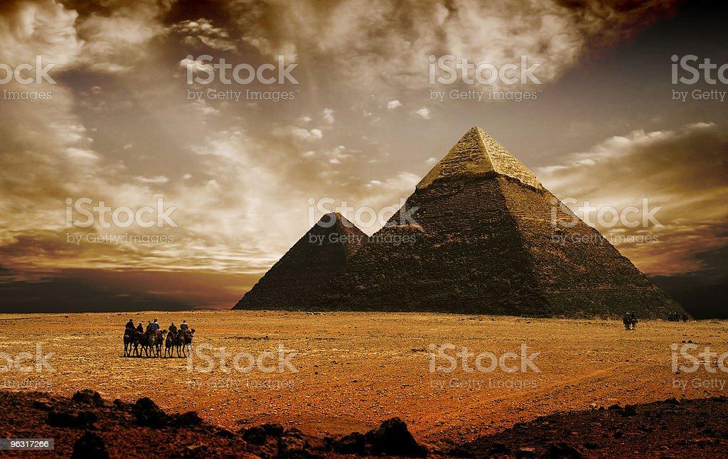 pyramides stock photo