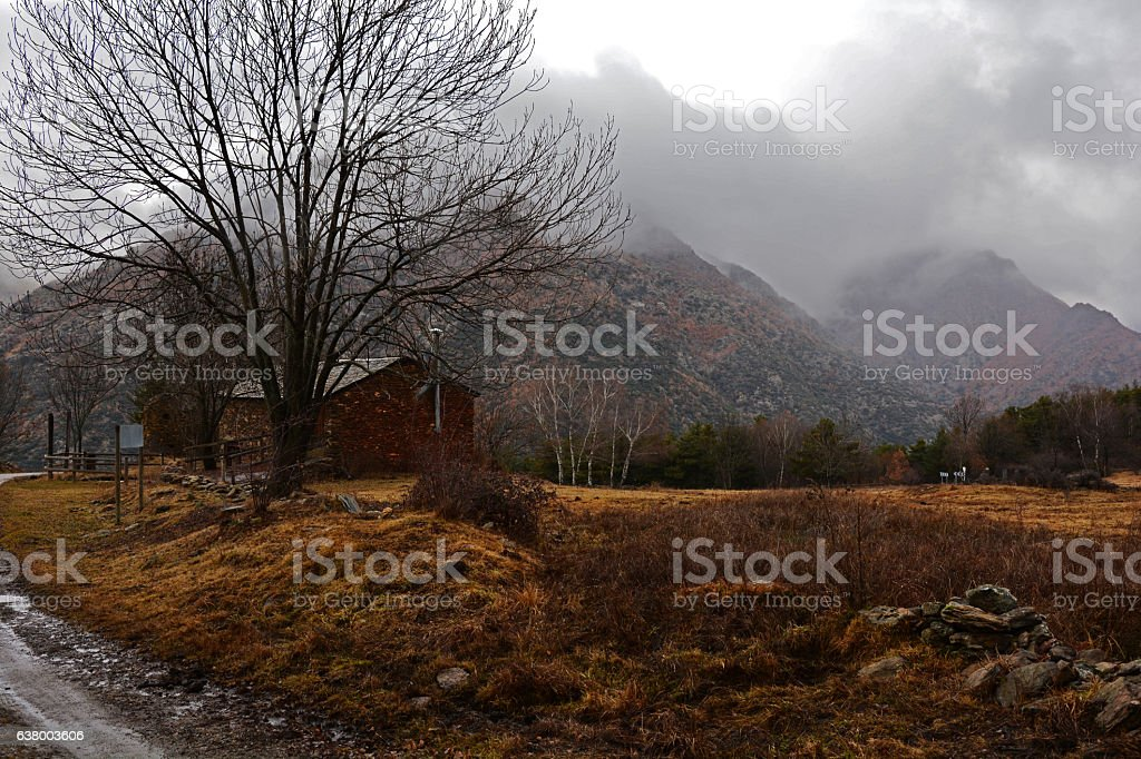 Pyrenean Contryside stock photo