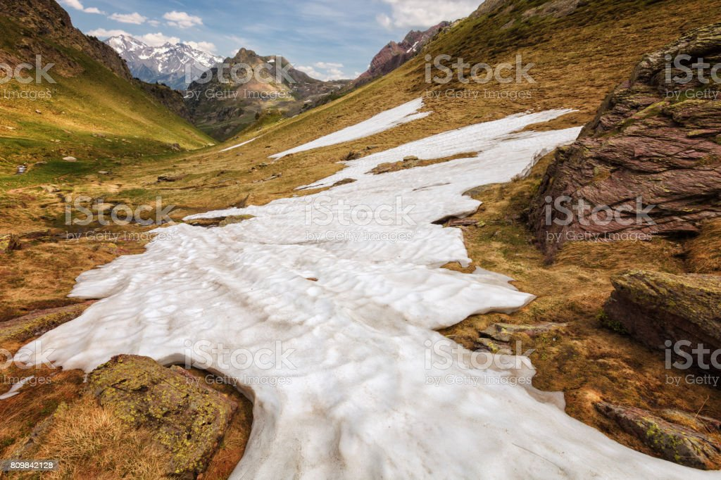 Pyrenean landscape near Anayet peak, Huesca, Spain stock photo