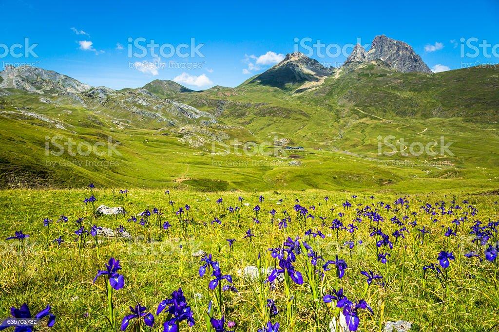Pyrenees mountains frontera del Portalet, Huesca, Aragon, Spain royalty-free stock photo