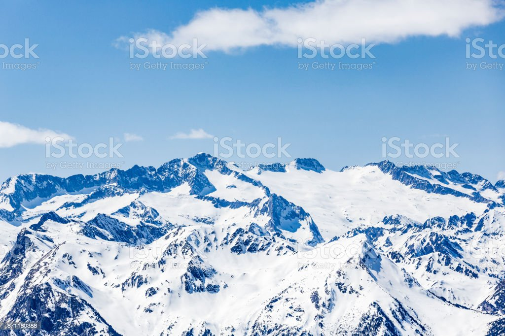 Pyrenees mountains in Val d'Aran Catalonia Spain stock photo