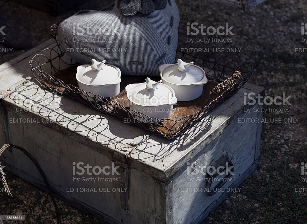 Pyrex with lids stock photo