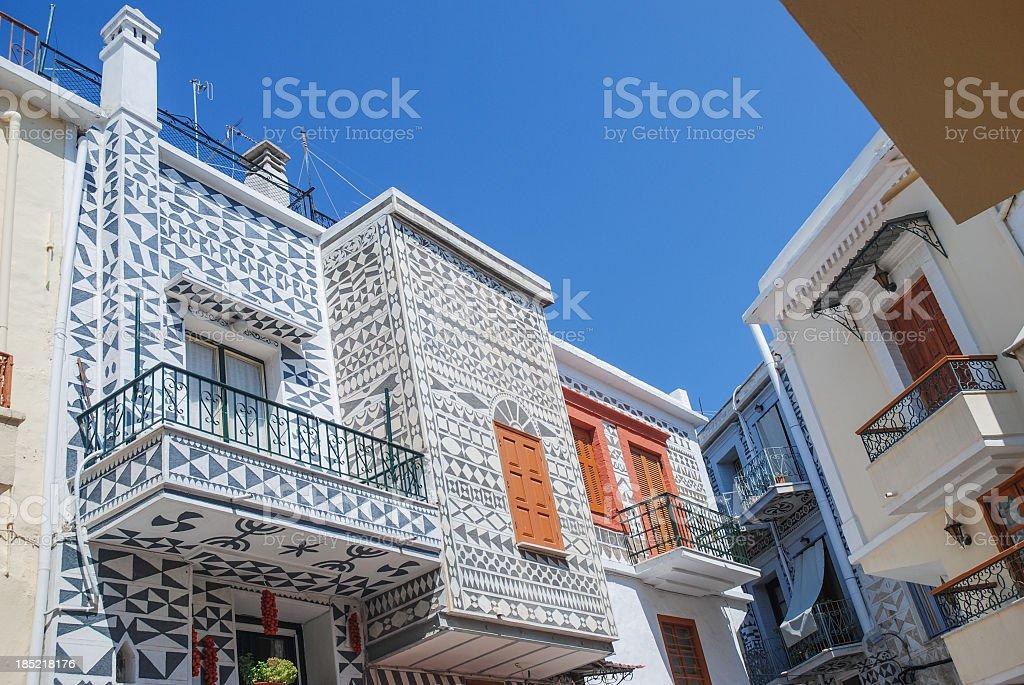 Pyrgi town, Chios stock photo