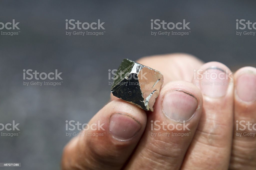 Pyrite, Colombia stock photo