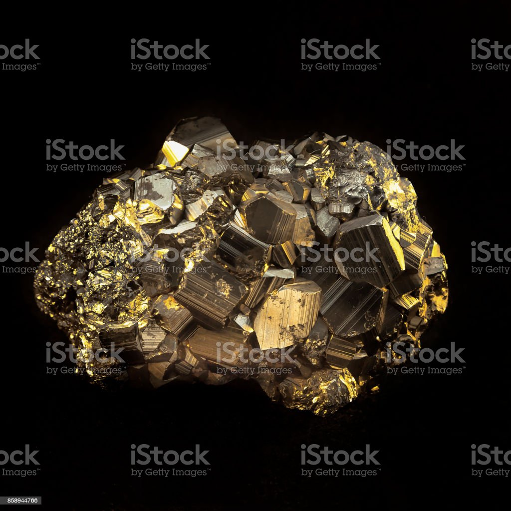 Pyrite Stone. stock photo