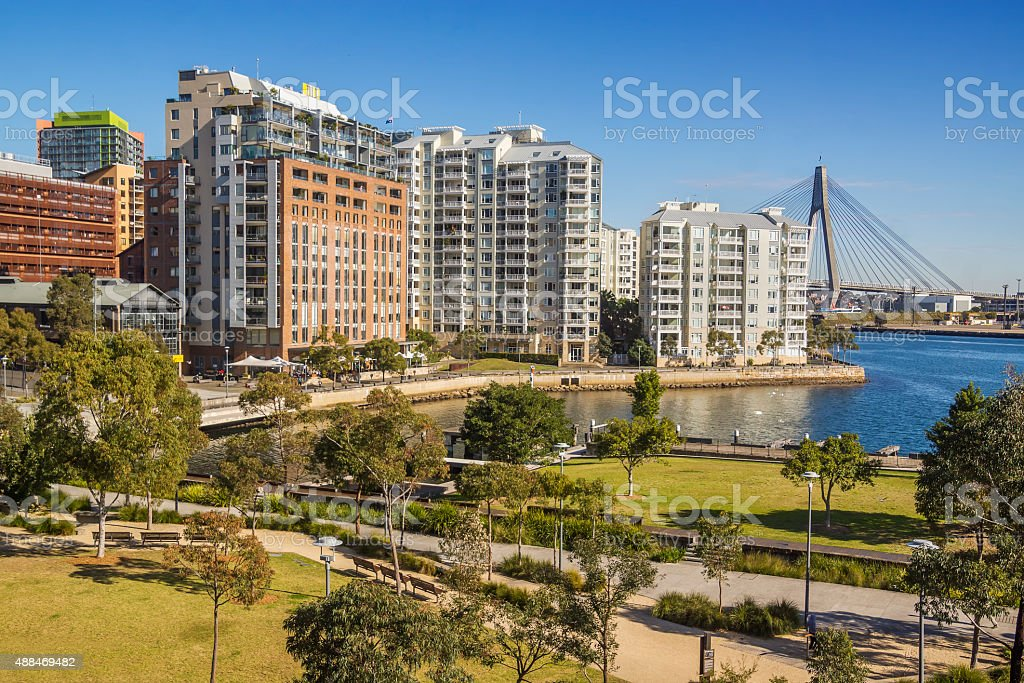Pyrmont Apartments stock photo