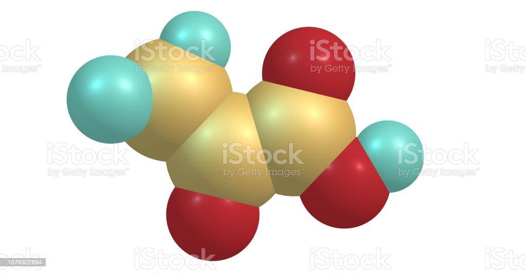 Pyruvic acid molecular structure isolated on white stock photo