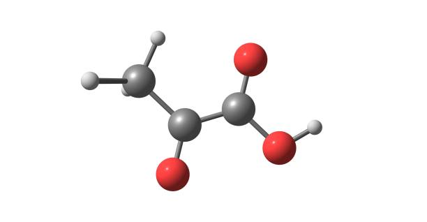 Pyruvic acid molecular structure isolated on white – zdjęcie