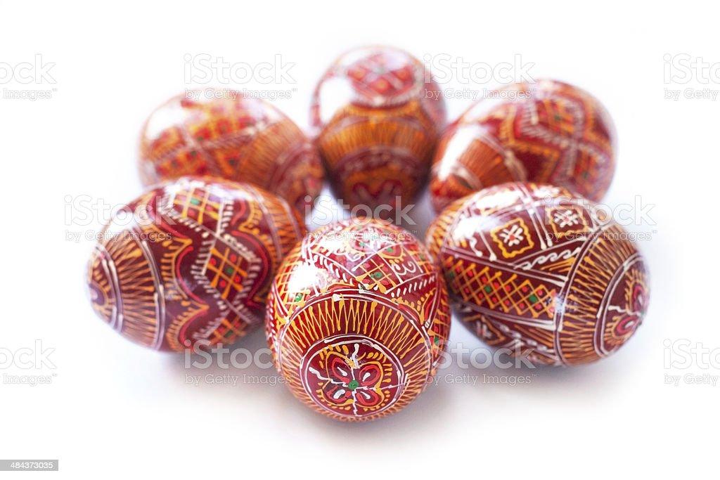 Pysanky - Ukrainian handmade painted Easter eggs stock photo