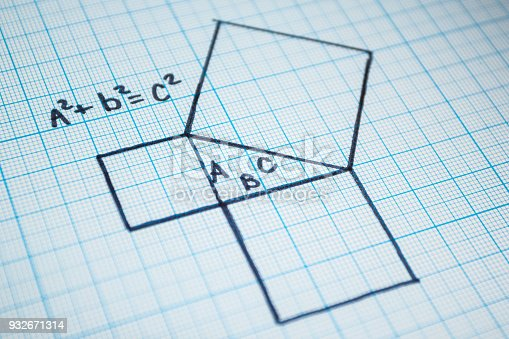istock Pythagorean theorem. 932671314