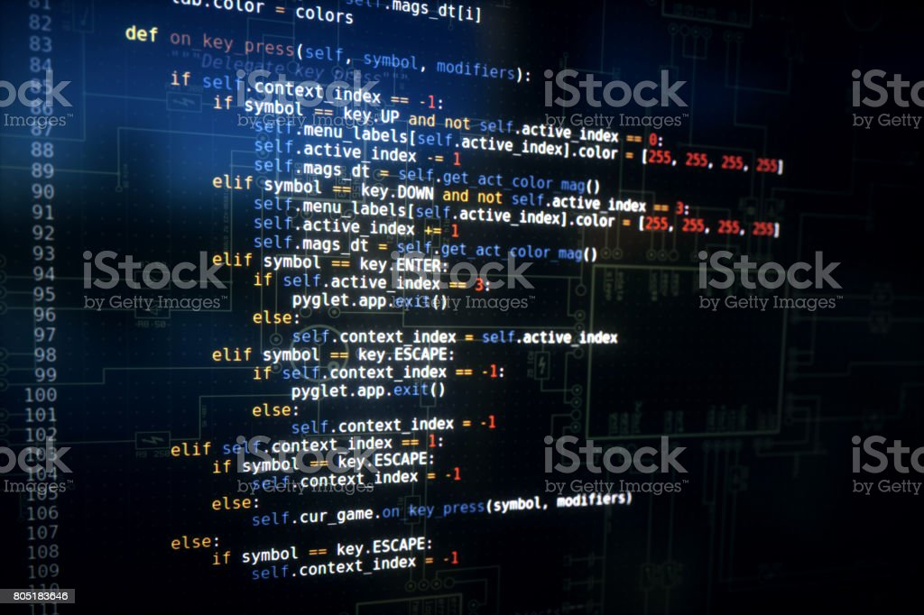 Python Computer Code Example Function stock photo
