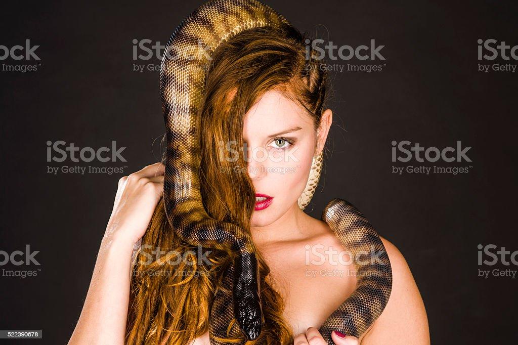 Pythongirl stock photo