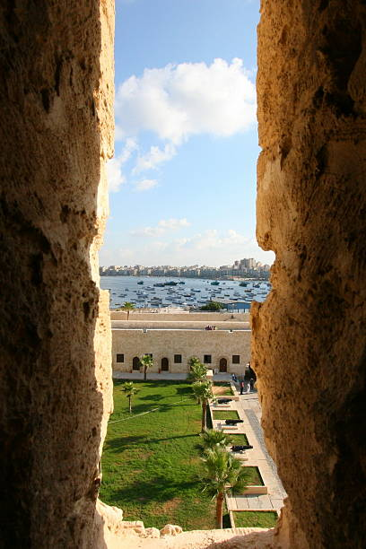 Qaetbay Alexandria Fortress stock photo