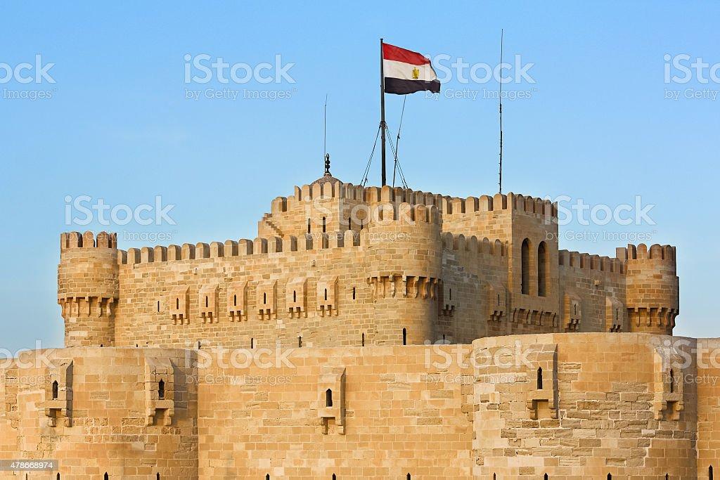 Castillo de Qaitbay o la Ciudadela en Alejandría, Egipto - foto de stock