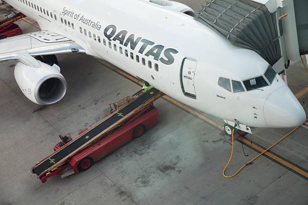 qantas aerei - qantas foto e immagini stock